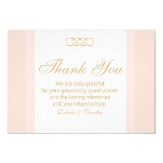 Cora e o obrigado do ouro você cartões