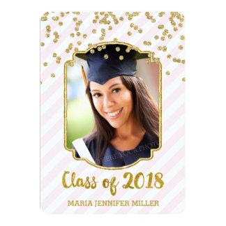 Cora o anúncio da graduação da foto dos confetes