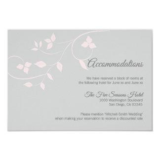 Cora o cartão cinzento cor-de-rosa da acomodação