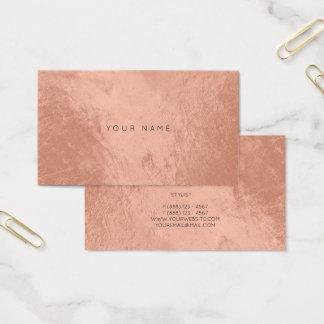 Cora o cartão metálico de cobre cor-de-rosa Vip da