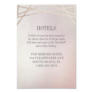 Cora o cartão Opaline cor-de-rosa do hotel do