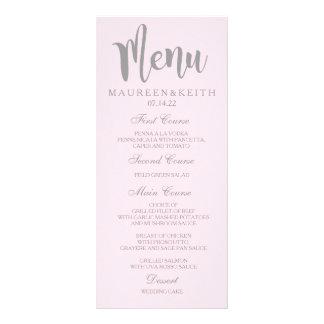 Cora o cartão personalizado rosa do menu do