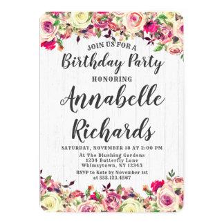 Cora o convite de aniversário do rosa cor-de-rosa