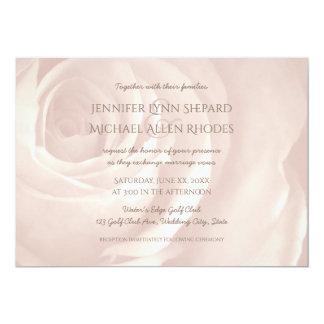 cora o convite elegante simples do casamento do convite 12.7 x 17.78cm