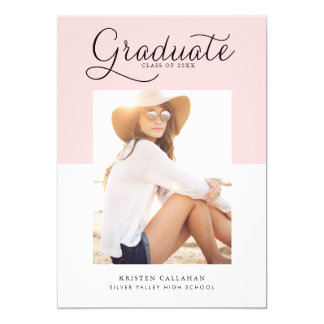 Cora o convite minimalista da graduação da foto da