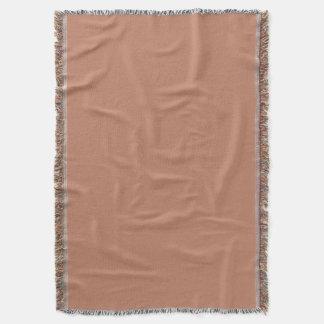 Cora o ouro Brown de cobre Throw Blanket