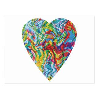 Coração #2 da arte do pulso aleatório cartão postal