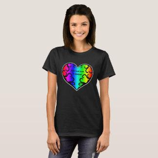 Coração à moda do arco-íris camiseta