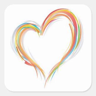 Coração Adesivo Quadrado