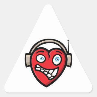 Coração Adesivo Triangular