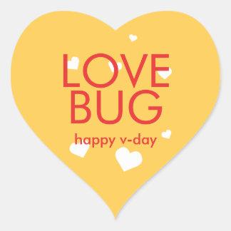 Coração amarelo vermelho do dia dos namorados do adesivo coração