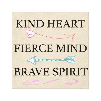 Coração amável, mente feroz, canvas bravas da alma