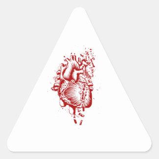Coração anatômico adesivo triangular