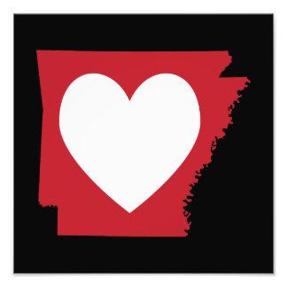 Coração Arkansas Impressão De Foto