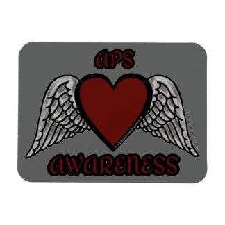 Coração/asas… APS Ímã