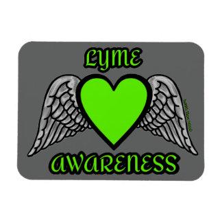 Coração/asas… Lyme Ímã