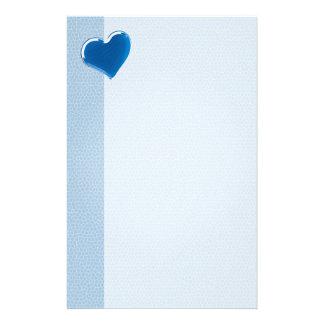 Coração azul - artigos de papelaria