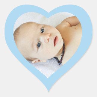 Coração azul bonito feito sob encomenda etiqueta
