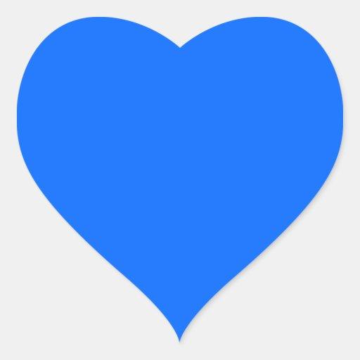 Aparador De Madeira Branco ~ Coraç u00e3o azul da cor adesivo coraç u00e3o Zazzle