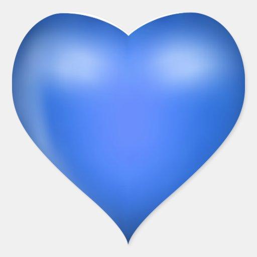 Aparador De Madeira Branco ~ coraç u00e3o azul do amor 3D Adesivo Coraç u00e3o Zazzle