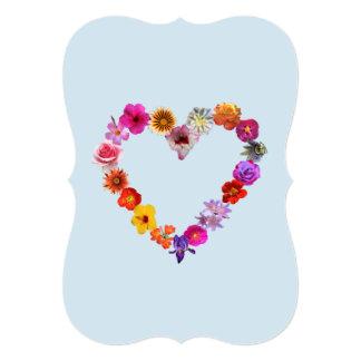 Coração azul do cartão feito das fotografias das