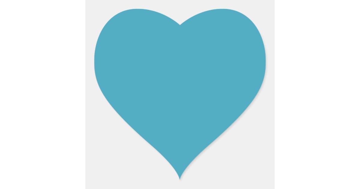 Aparador De Madeira Branco ~ Coraç u00e3o azul do fundo da cerceta lisa dado forma adesivo coraç u00e3o Zazzle