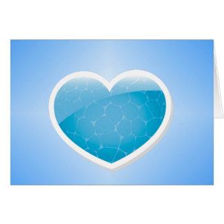 Coração azul - irmã do feliz aniversario cartão comemorativo