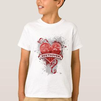 Coração Beethoven Camiseta