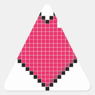 Coração Blocky Adesivo Triangular