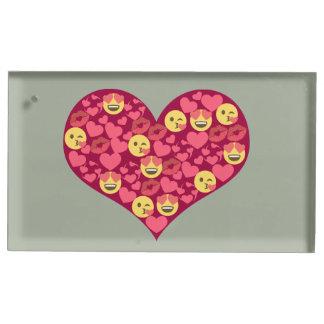 Coração bonito de Emoji dos lábios do beijo do Suportes Para Cartoes De Mesas