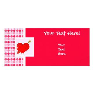 Coração bonito & seta do Cupido Planfeto Informativo Colorido