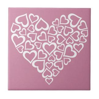 Coração branco dos corações