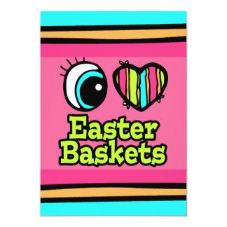 Coração brilhante do olho eu amo cestas da páscoa convite 12.7 x 17.78cm