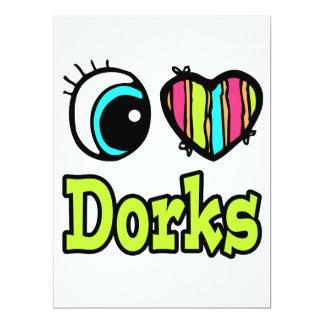 Coração brilhante do olho eu amo Dorks Convites