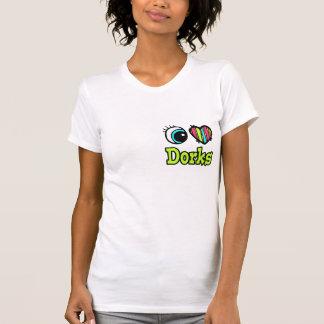 Coração brilhante do olho eu amo Dorks Tshirts