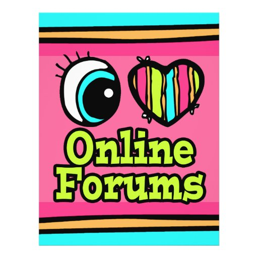Coração brilhante do olho eu amo fóruns em linha panfleto coloridos