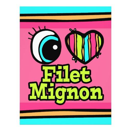 Coração brilhante do olho eu amo o Mignon de faixa Panfletos