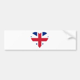 Coração britânico da bandeira adesivo para carro