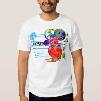 Coração calmo camisetas
