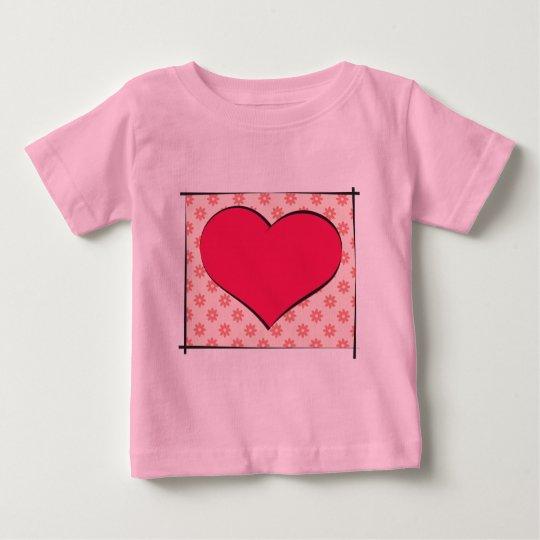 Coração Camiseta Para Bebê