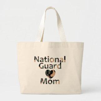 Coração Camo da mamã da guarda nacional Sacola Tote Jumbo