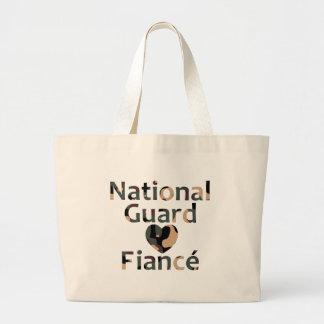 Coração Camo do noivo da guarda nacional Bolsa