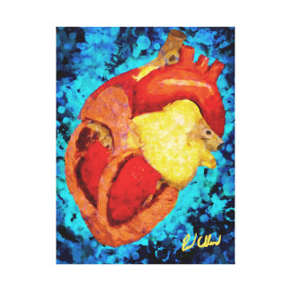 Coração Impressão Em Tela Canvas