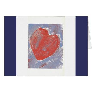 Coração Cartão Comemorativo