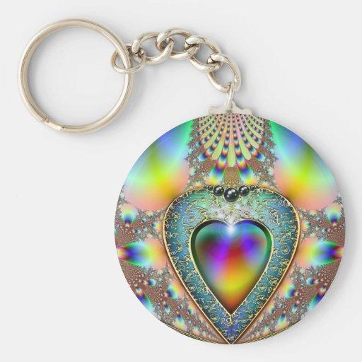 Coração charm.jpg do Fractal Chaveiro