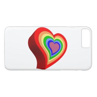 Coração colorido capa iPhone 7 plus