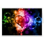 Coração colorido cartao