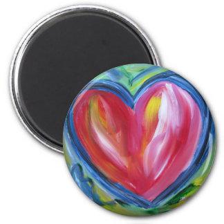Coração com ímã da esperança ímã redondo 5.08cm