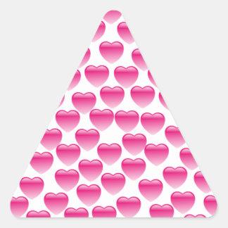 Coração cor-de-rosa adesivo triangular