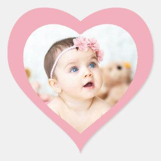 Coração cor-de-rosa bonito feito sob encomenda adesivo coração